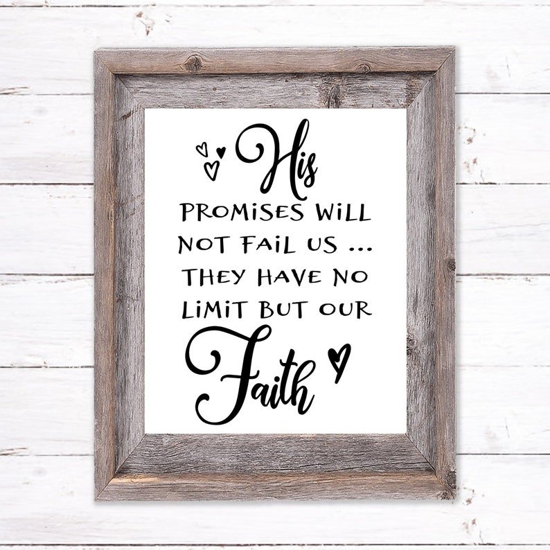 Printable Wall Art about God's Promises image 0