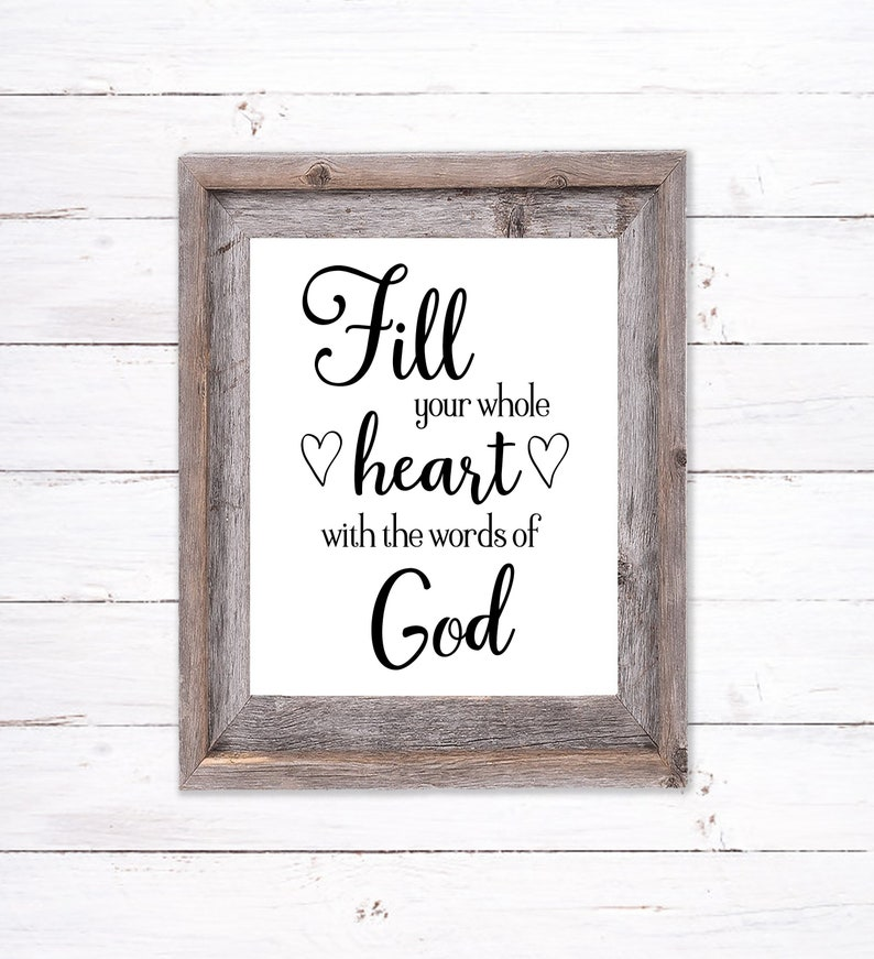 Printable Wall Art about God's Word image 0