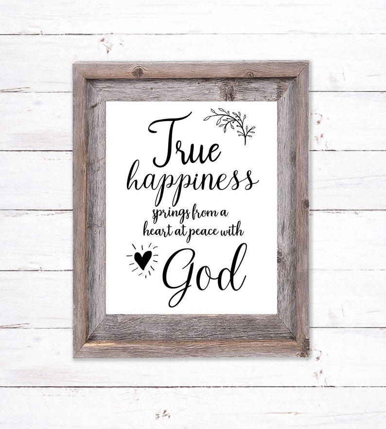 Printable Wall Art about Happiness image 0