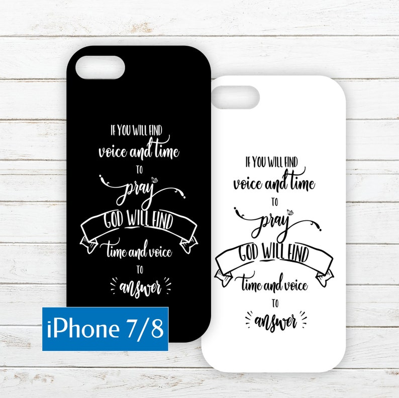 iPhone 7/8 Printable Phone Case Insert PDF with Quote about image 0