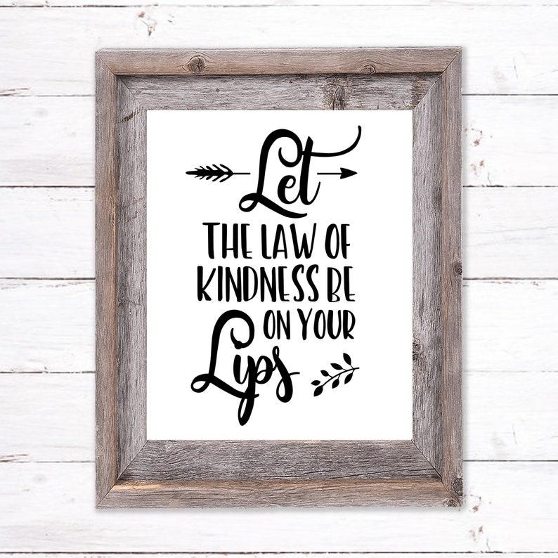 Printable Wall Art about Kindness image 0