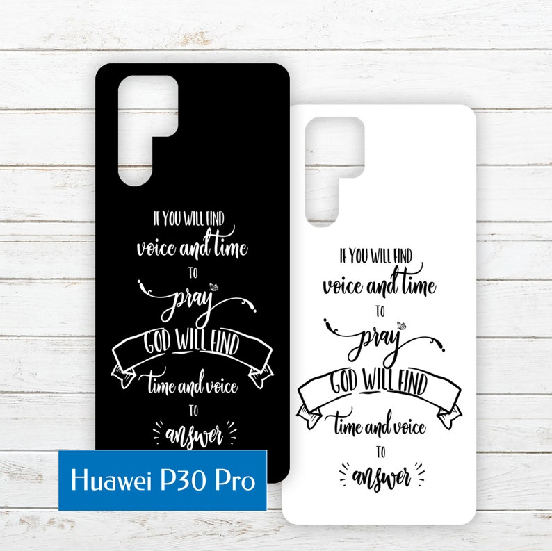 Huawei P30 Pro Printable Phone Case Insert PDF with Quote image 0
