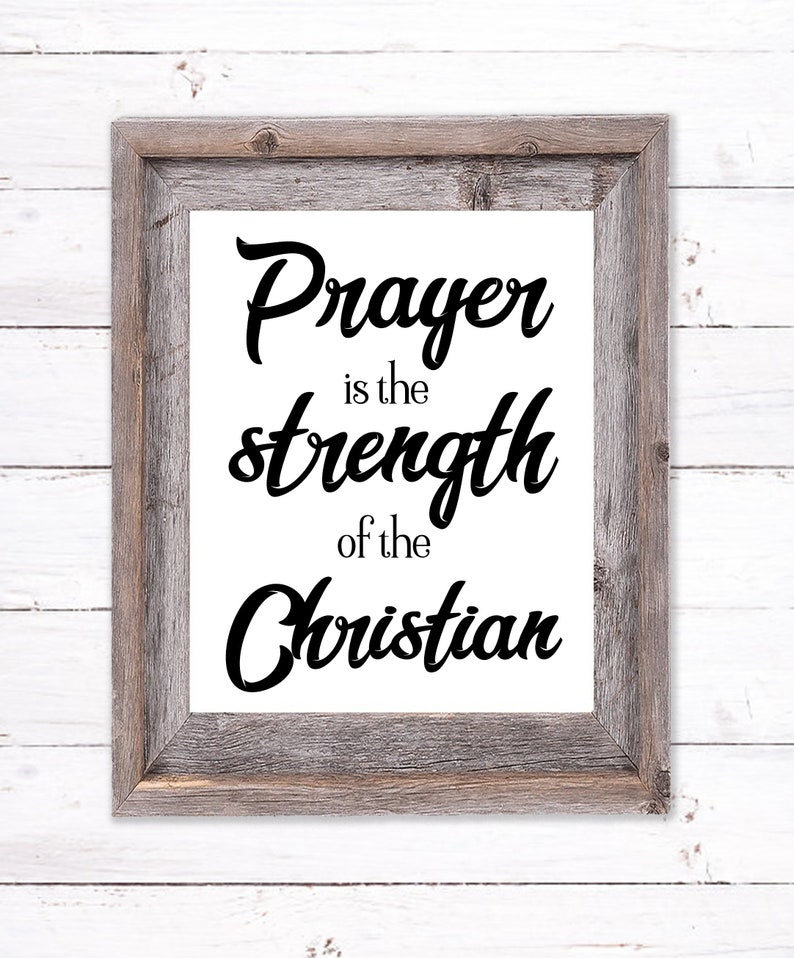 Printable Wall Art about Prayer and Strength image 0