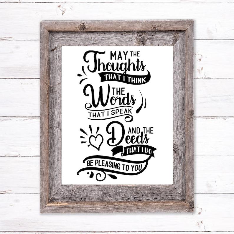 Printable Wall Art of a Daily Prayer image 0