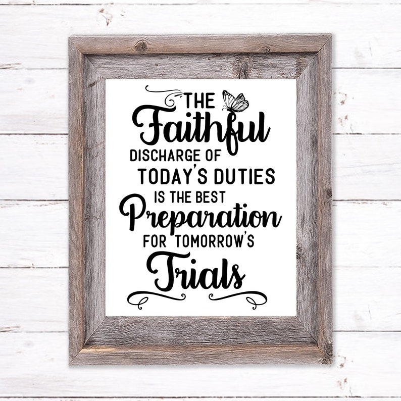 Printable Wall Art about Trials image 0