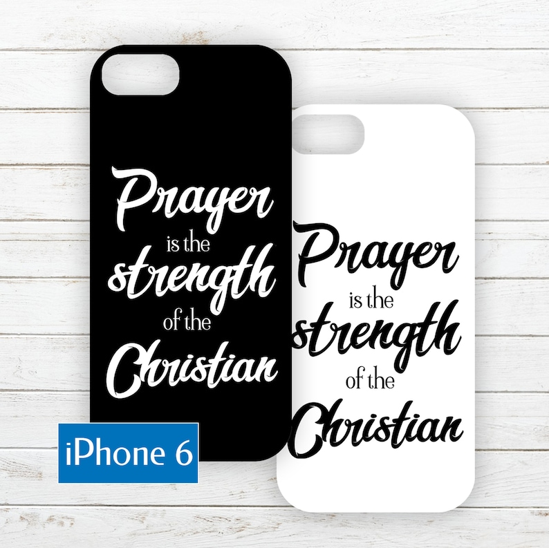 iPhone 6 Phone Case Insert about Christian Strength image 0