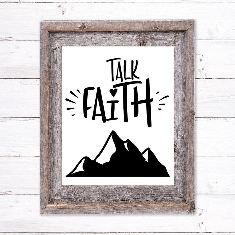 Printable Wall Art about Faith image 0