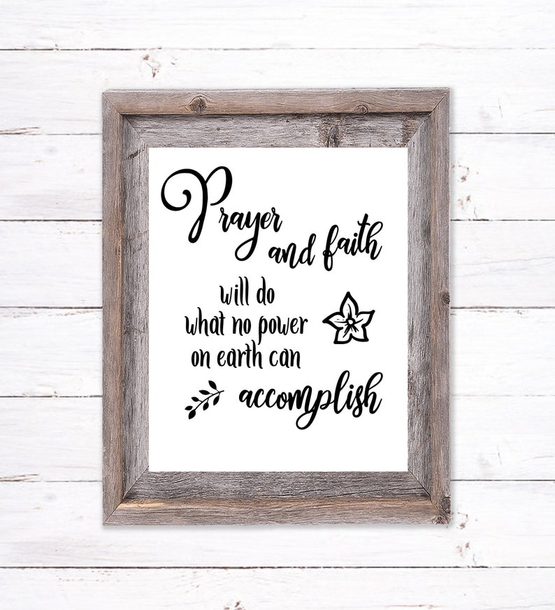 Printable Wall Art about Prayer and Faith image 0