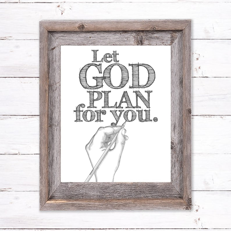 Printable Wall Art about Trusting God image 0