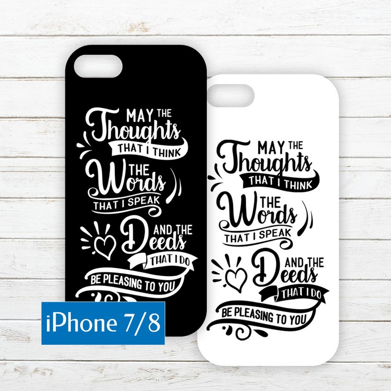 iPhone 7/8 Phone Case Insert of a Daily Prayer image 0