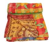 Vintage handmade cotton kantha quilt ,patchwork kantha quilt ,throw ,boho style