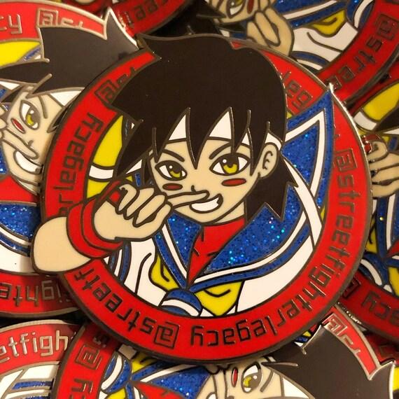 Streetfighterlegacy Sakura Enamel Pin Street Fighter Etsy