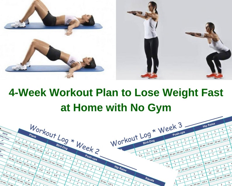 Home Workout For Beginners: Exercise At Home, Get Fit With This Effective 4  Week Guided Routine  28 Day Home Workout Plan