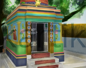South Indian Temple - on the roadside