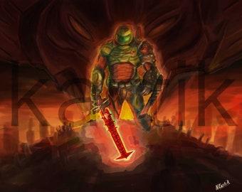 Doomguy aka Doom Slayer aka Doom Marine - Fan Art