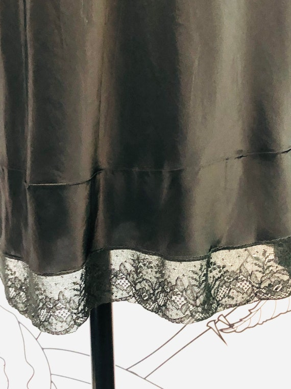 Circa 1940-50s Vintage Black Full Slip, Vintage T… - image 6