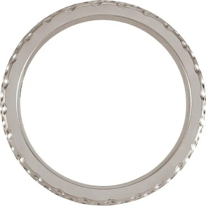 Cobalt 6 mm Patterned Band Size 10 Mens Handmade Ring Mens Ring Men/'s Wedding Band Modern Engraved Minimal Nickel Free Mens Ring