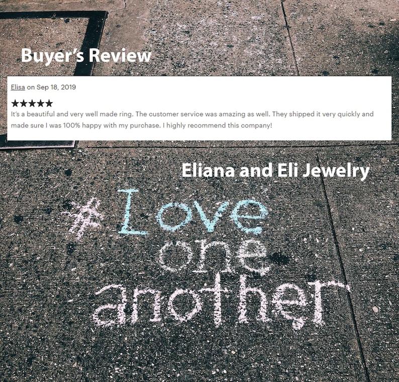 Unique Ring Eliana and Eli Jewelry 14K White Circle Ring Engagement Ring Circle Ring Eliana and Eli Jewelry Eliana and Eli Jewelry