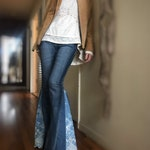 Custom Made Bell Bottom Jeans, Ooak, handmade Adult womens bell bottoms, upcycled clothing