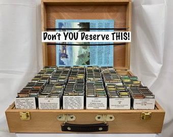 The DOMINIONIZER - The ULTIMATE Dominion Card ORGANIZER - The Complete System with Wooden Case - Licensed by Rio Grande Games