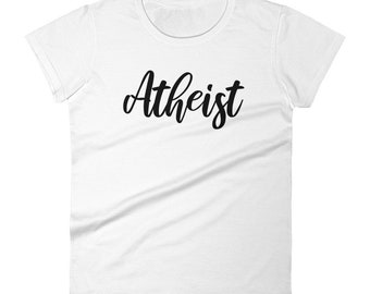 799a5a06 Women's Atheist t-shirt - Free Thinker shirt - Secular Tee - No God Tshirt  - Gift for Atheist - Skeptic shirt
