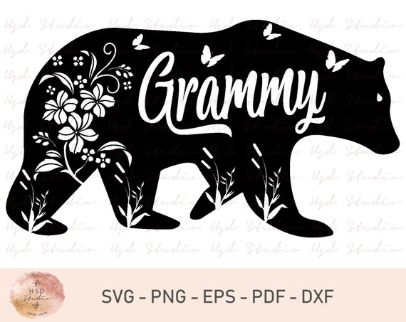 Grammy Bear Svg Png Dxf Cut Files For Cricut And Silhouette Etsy