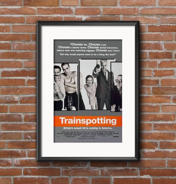 Vintage 90s Trainspotting Movie Poster