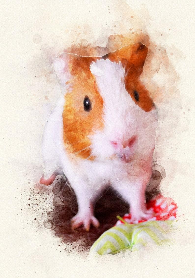 Custom dog painting Dog portrait Personalized Guinea Pig Portrait painting Custom Rabbit Pet Portrait Painting of my Rabbit Pet Memorial