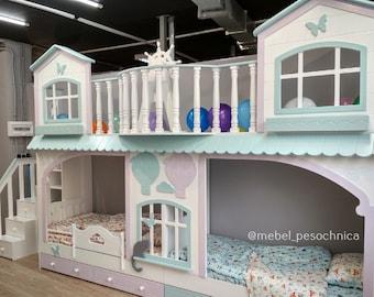 Excellent Loft Bed Etsy Download Free Architecture Designs Grimeyleaguecom