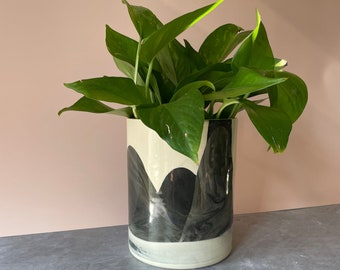 Marbled Planter or Utensil Crock