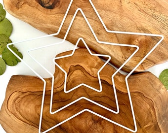 Metal Ring | Star | White & Gold | Different Sizes