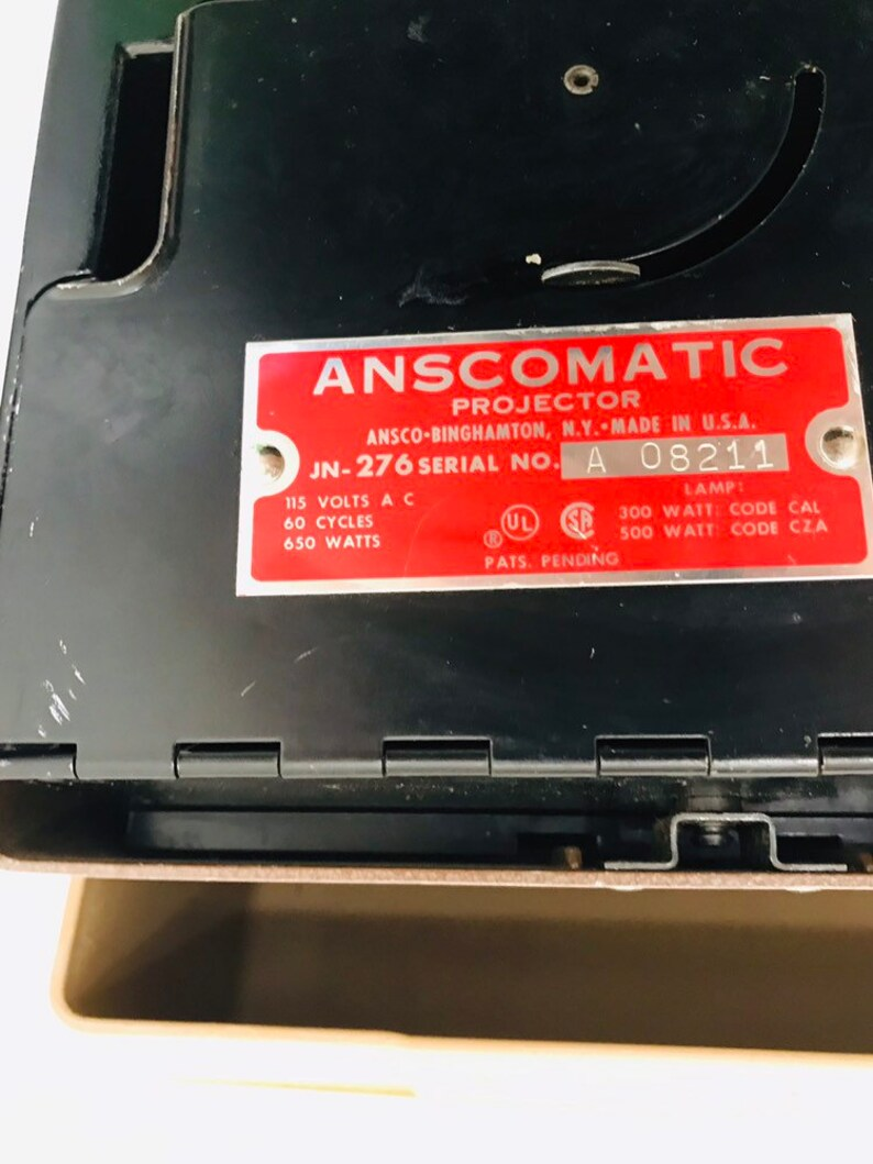 Anscomatic Projector in Case With Instructions and Bulb