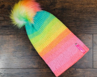 Rainbow Tik Tok Beanie