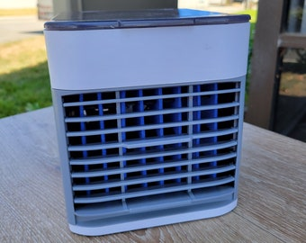 Personal Air Cooler, Air Conditioner Fan with 3 Wind Speeds Air Vent & 1 Refrigeration, Ultra Quite Ice Cooler Fan for Home Office Outdoor