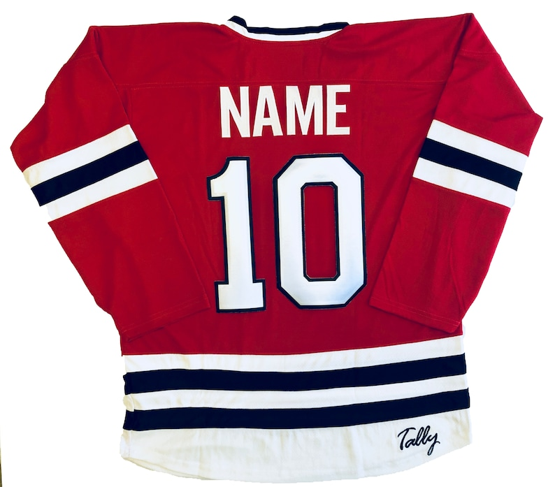 Hockey Jerseys with The Shooters Embroidered Twill Crest We Customize with Player Name and Number