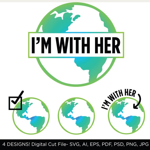 I'm with Her Cut File Mother Earth SVG Bundle