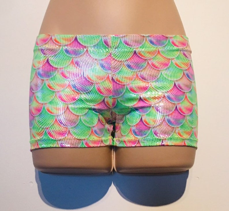 Unicorn Hotpant Gym shorts And Matching Crop Top