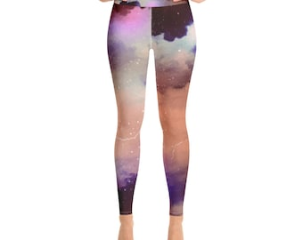 a8d94732a68ff Space Galaxy Yoga Leggings l womens yoga pants l fitness gift l workout  clothing l boho style l space art print yoga clothing on sale