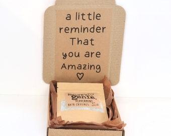 Little Reminder Self-Care gift box, Bath gift box, Mini Bath gift set, Organic Bath gift, Natural Handmade Bath set, Thinking of you gift