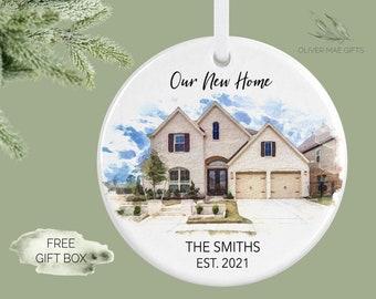 Custom Home Ornament, Housewarming Gift, Personalized Home Ornament, New Home Ornament,  House Warming Gift Idea, Real Estate Gift, Portrait