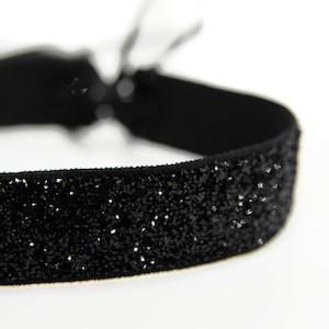 Bridal Wedding Necklace Black Genuine Silk Ribbon Choker with Double Face Satin Ribbon