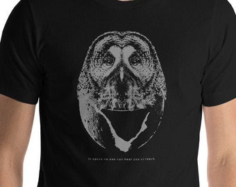 401cc5a2 Funny Animal Alien Shirt - Movie Quote Tshirt - In Space No One Can Hear  You Screech - Animal Lover Gift