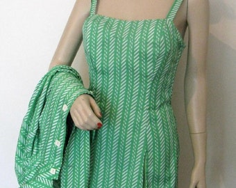a9cfbf947a vintage 1960s Gabar swimsuit with matching jacket coverup