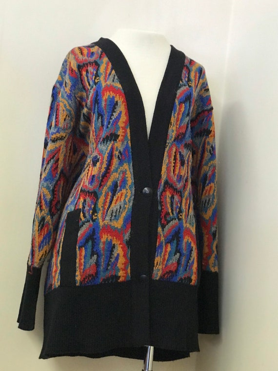Vintage French Abstract Cardigan