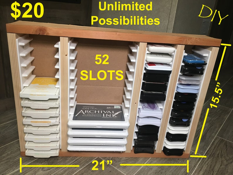 How to build storage for stamp pads NO matter what BRAND you image 0