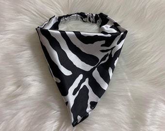 Zebra Stripes Flannel Bandana
