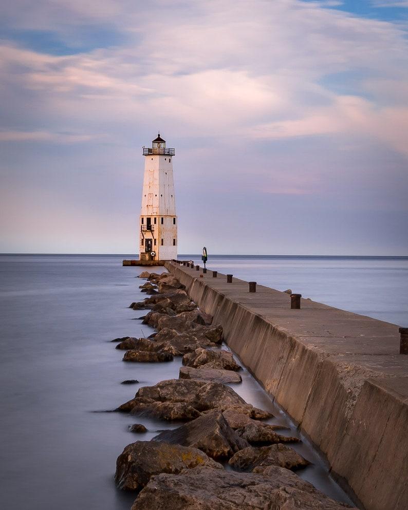 Frankfort Michigan Lighthouse Sunrise Print
