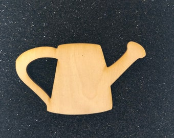 Watering Can Unpainted Wood 2 piece Wood Set Raw Wood Wood Watering Can