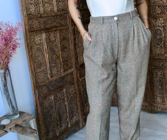 Vintage Silk Tweed Trousers