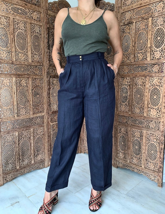 Vintage 100% Linen Trousers by Jaeger